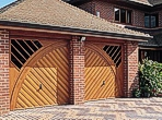 Purpose made timber garage door designs