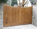 Oak timber swing gates remote control