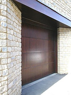 Hormann sectional timber garage door