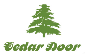cedar sectional timber doors
