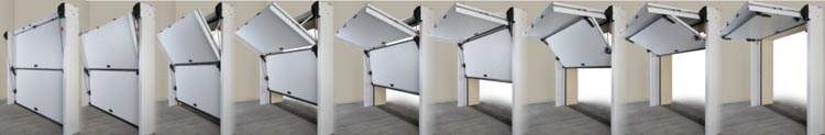 overlap garage door operation stages