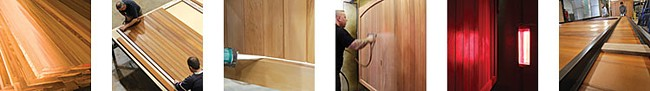 timber door preparation and finishing