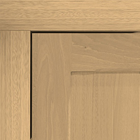 oak timber fixing frame and door panel