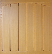 Woodrite Oakwood simple panelled up and over