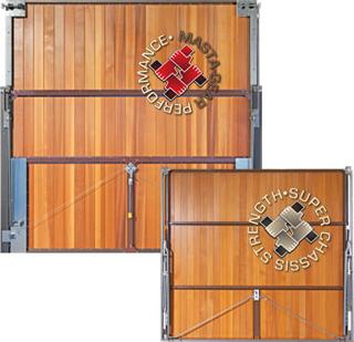panel built timber door