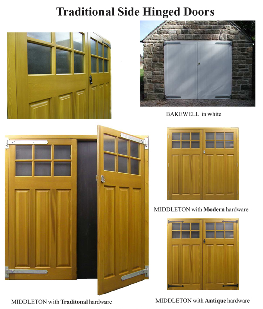 side hinged timber door details