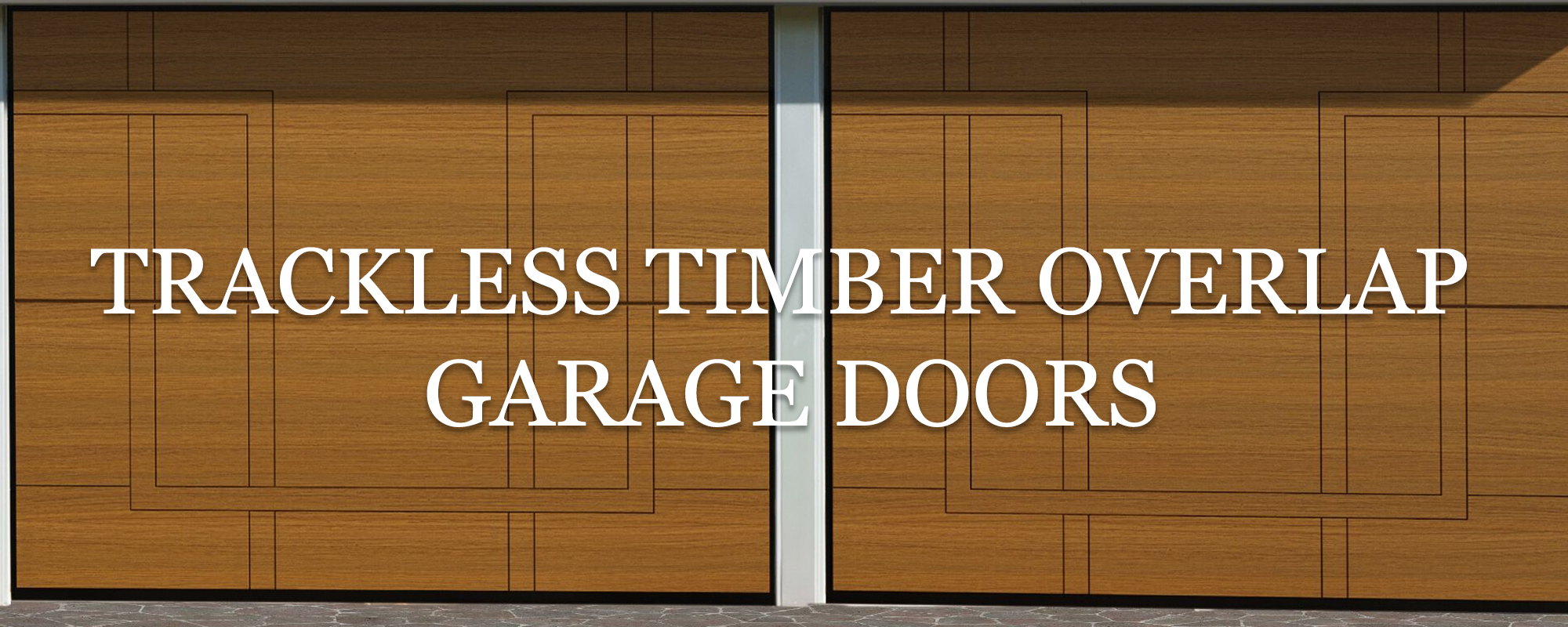 overlap trackless sectional timber door